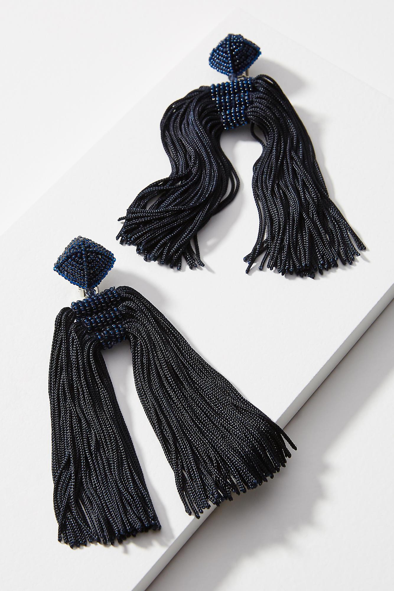 Sachin & Babi Fleur Round Silk Drop Earrings QX7YUnUSK