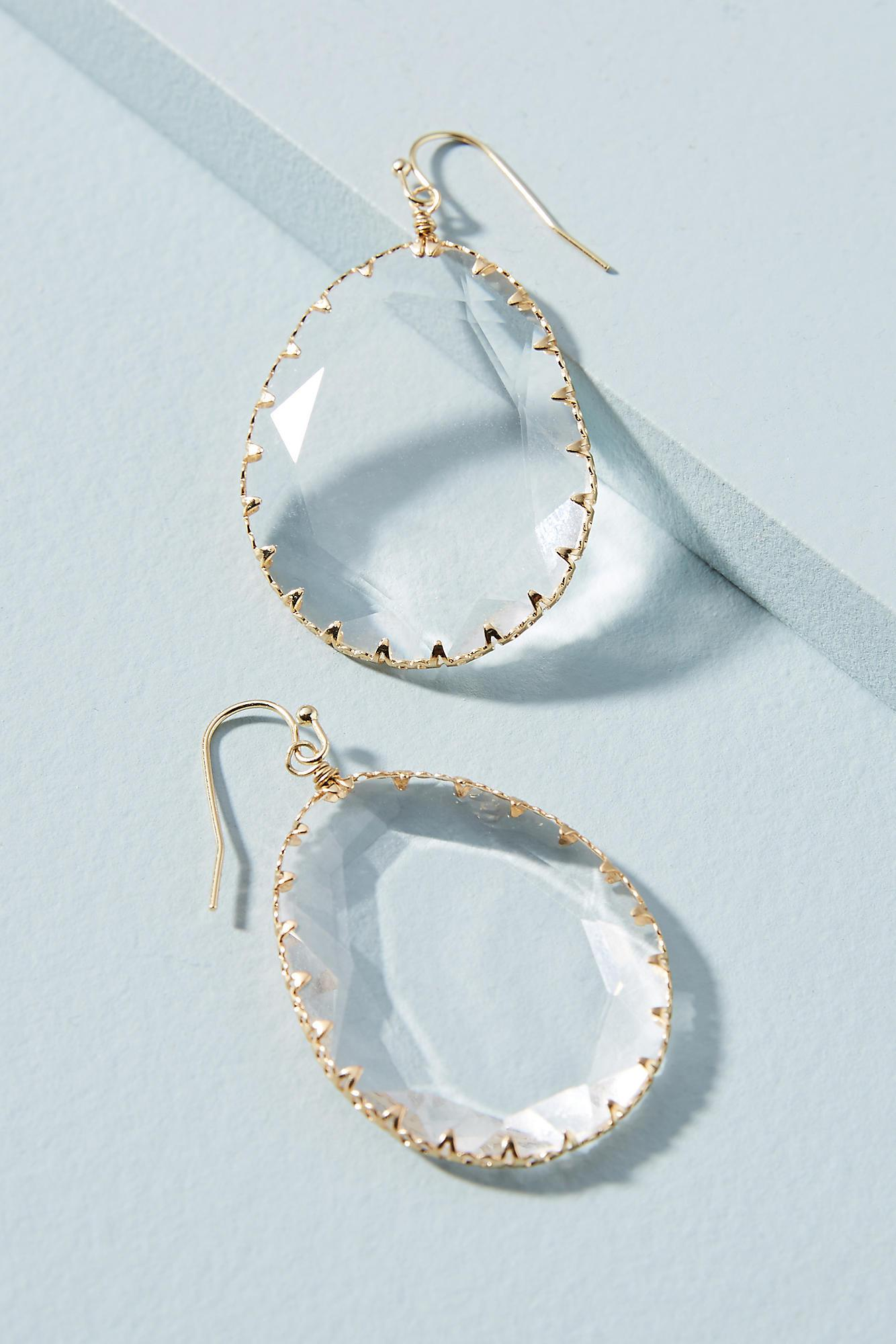 Anthropologie Reflecting Pool Circle Drop Earrings sSzFSUP