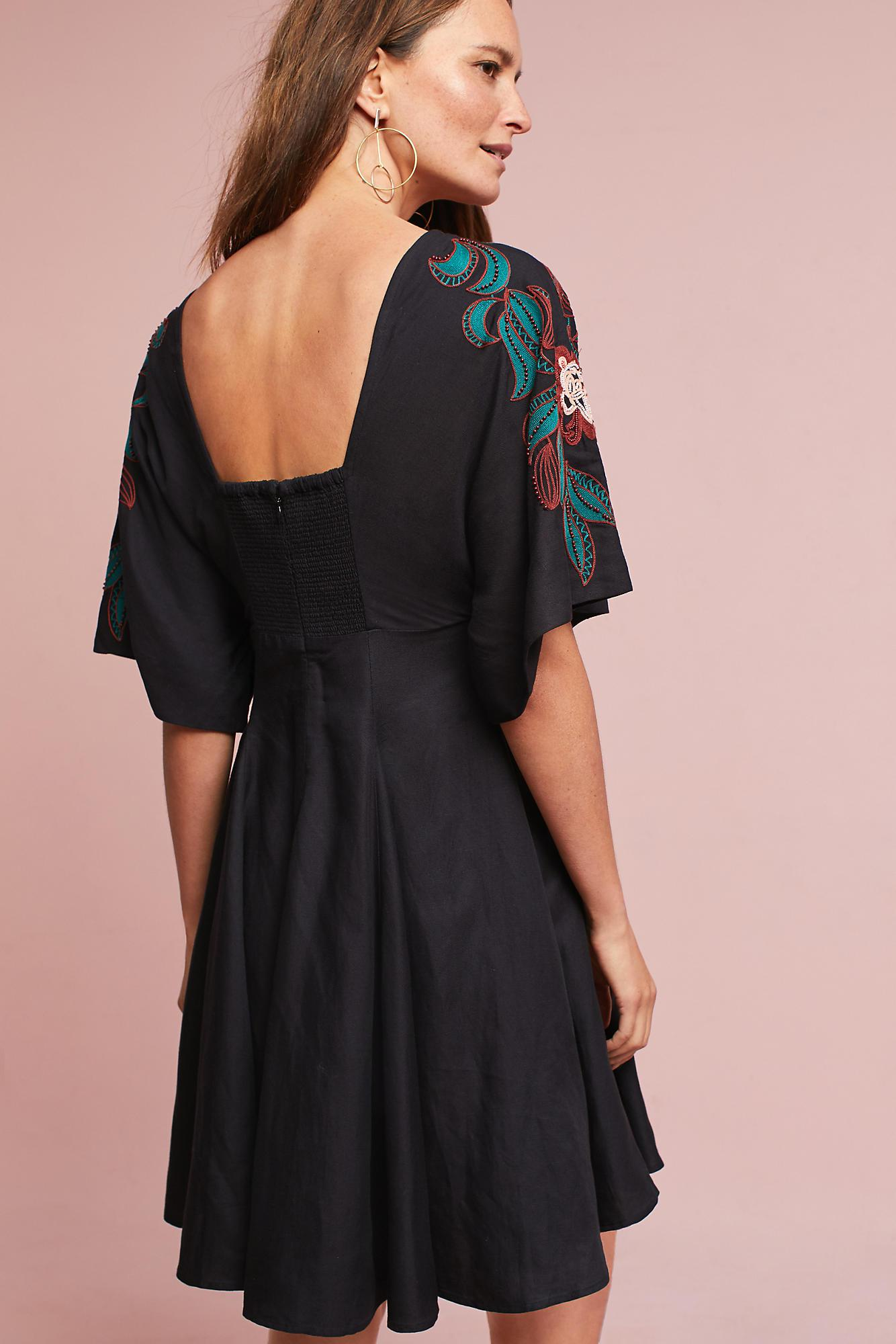 e81d39e95ee Anthropologie Priscilla Embroidered Dress