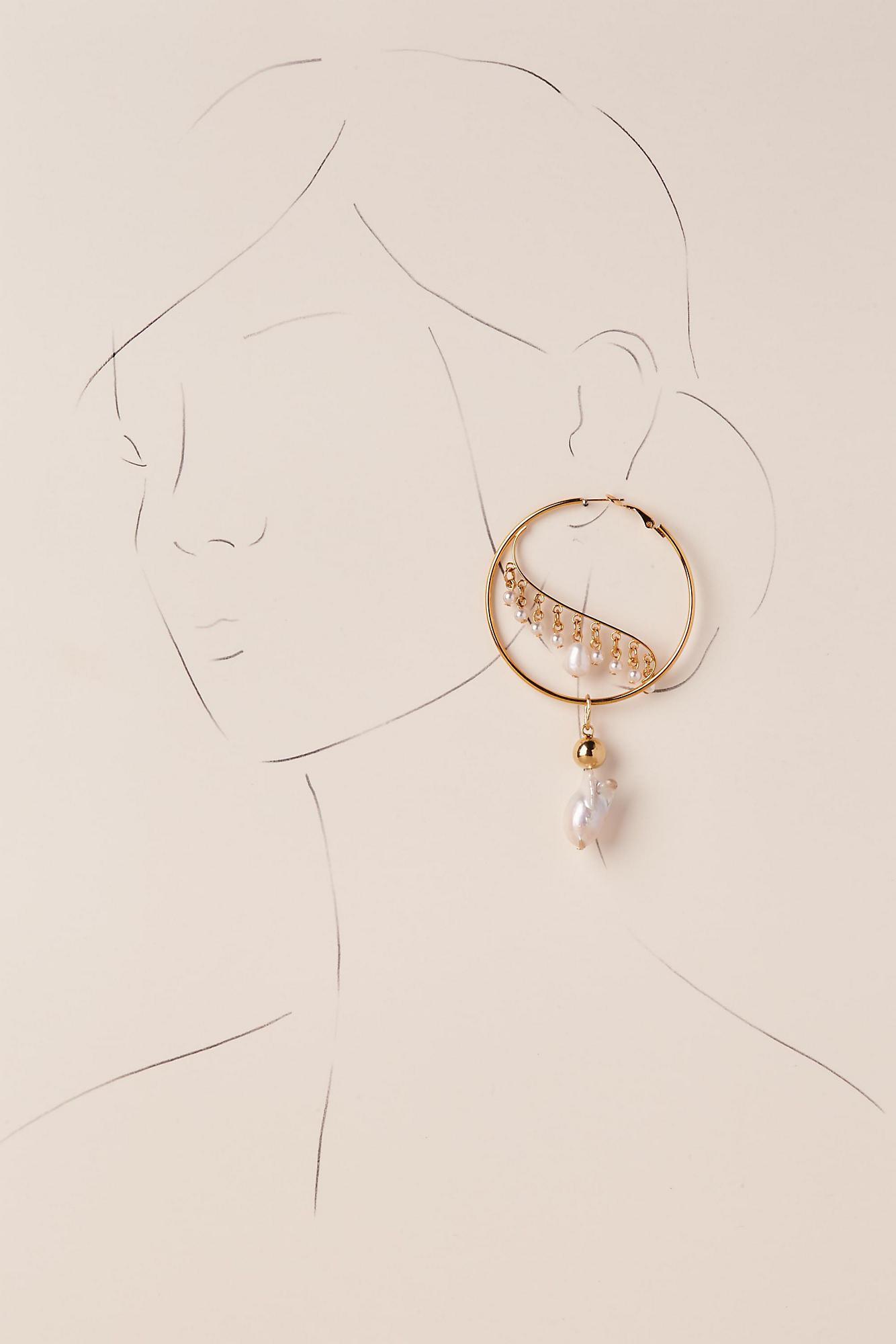 Anthropologie Ziva Hoop Earrings suqox3H