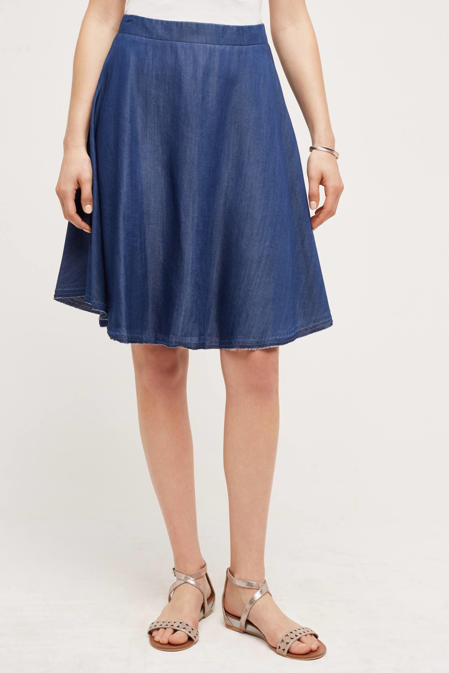 Jean Circle Skirt - Dress Ala