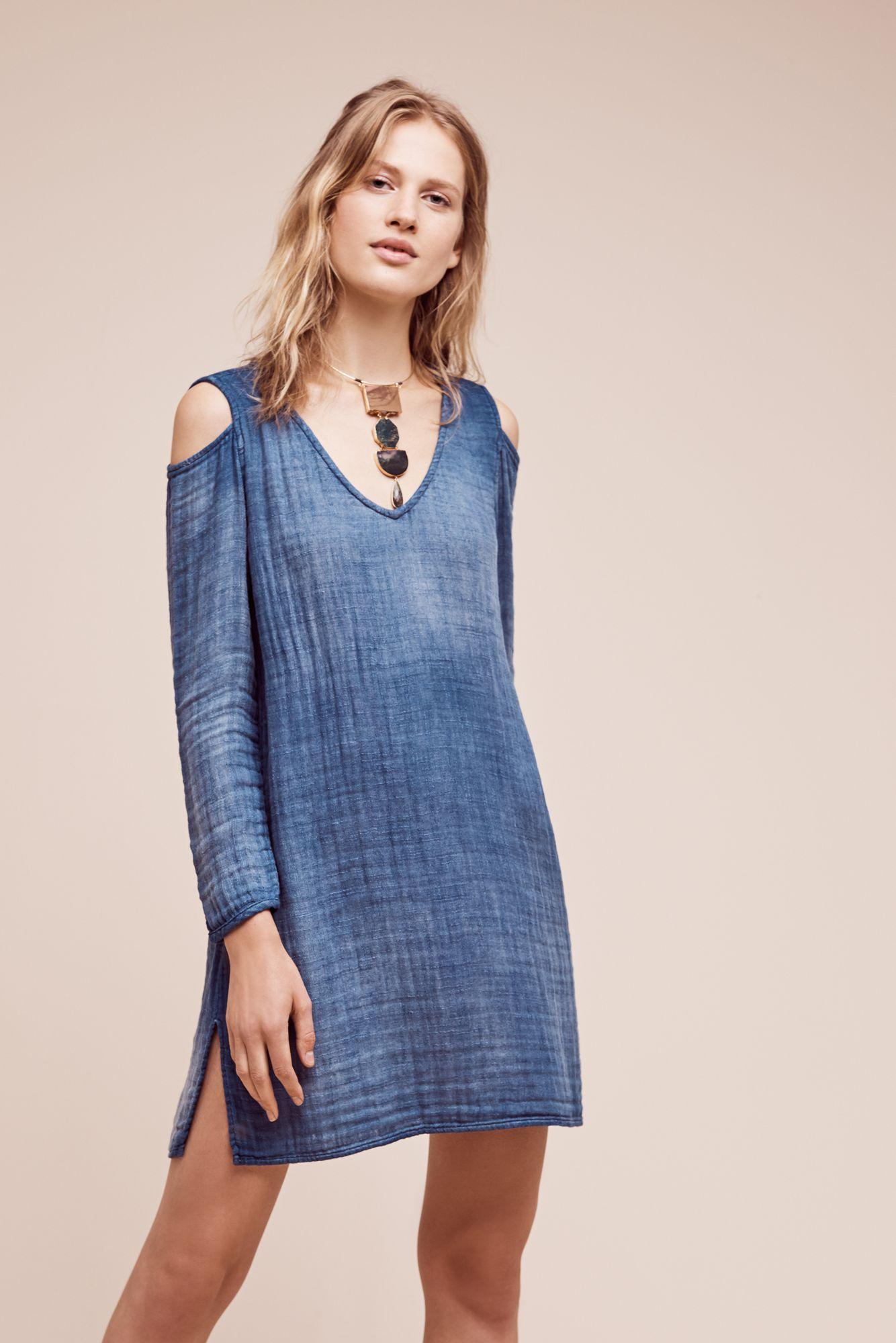 Cloth and stone denim dress - Fashion Lace dress