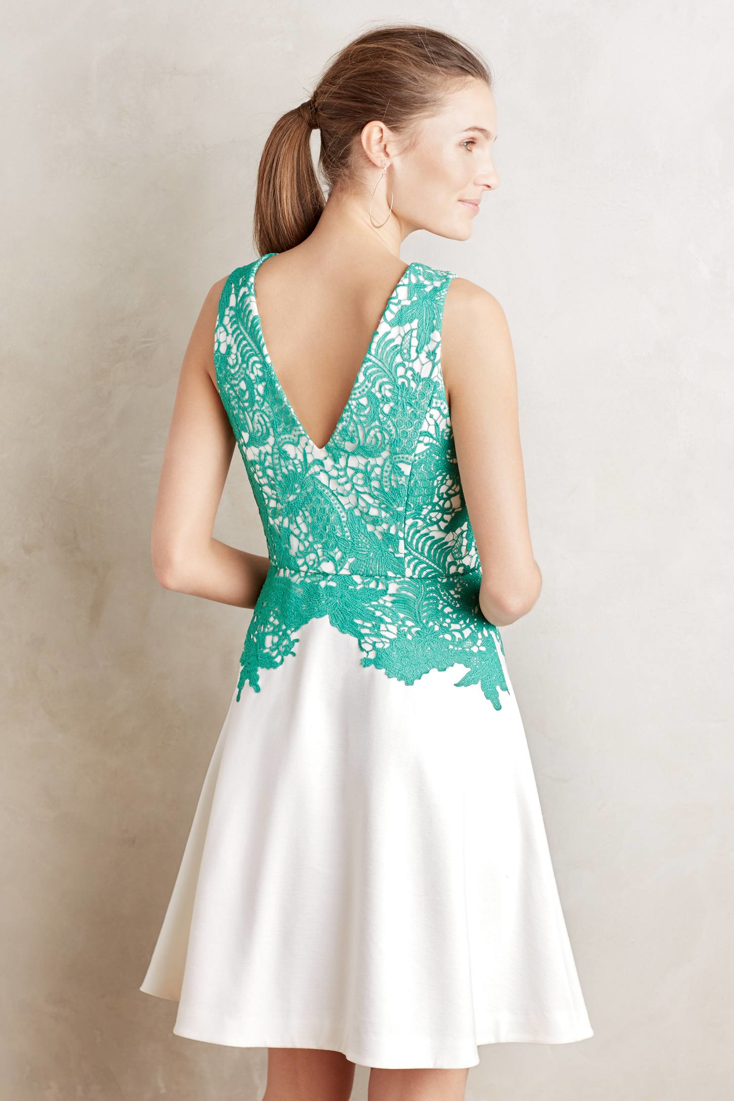Anthropologie paneled lace dress