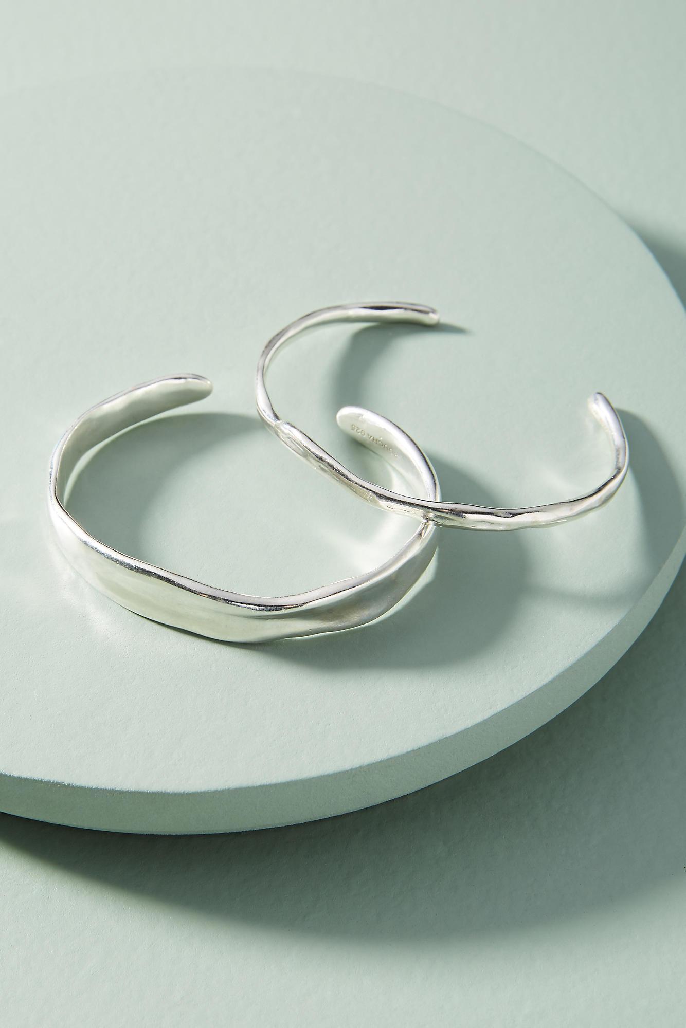 Anthropologie Modern Metalwork Cuff Bracelet Set qfgC6Cs1