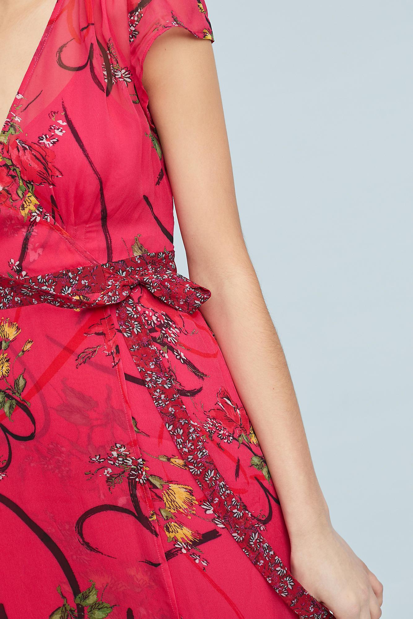Lyst Maeve Valentine Wrap Dress In Pink