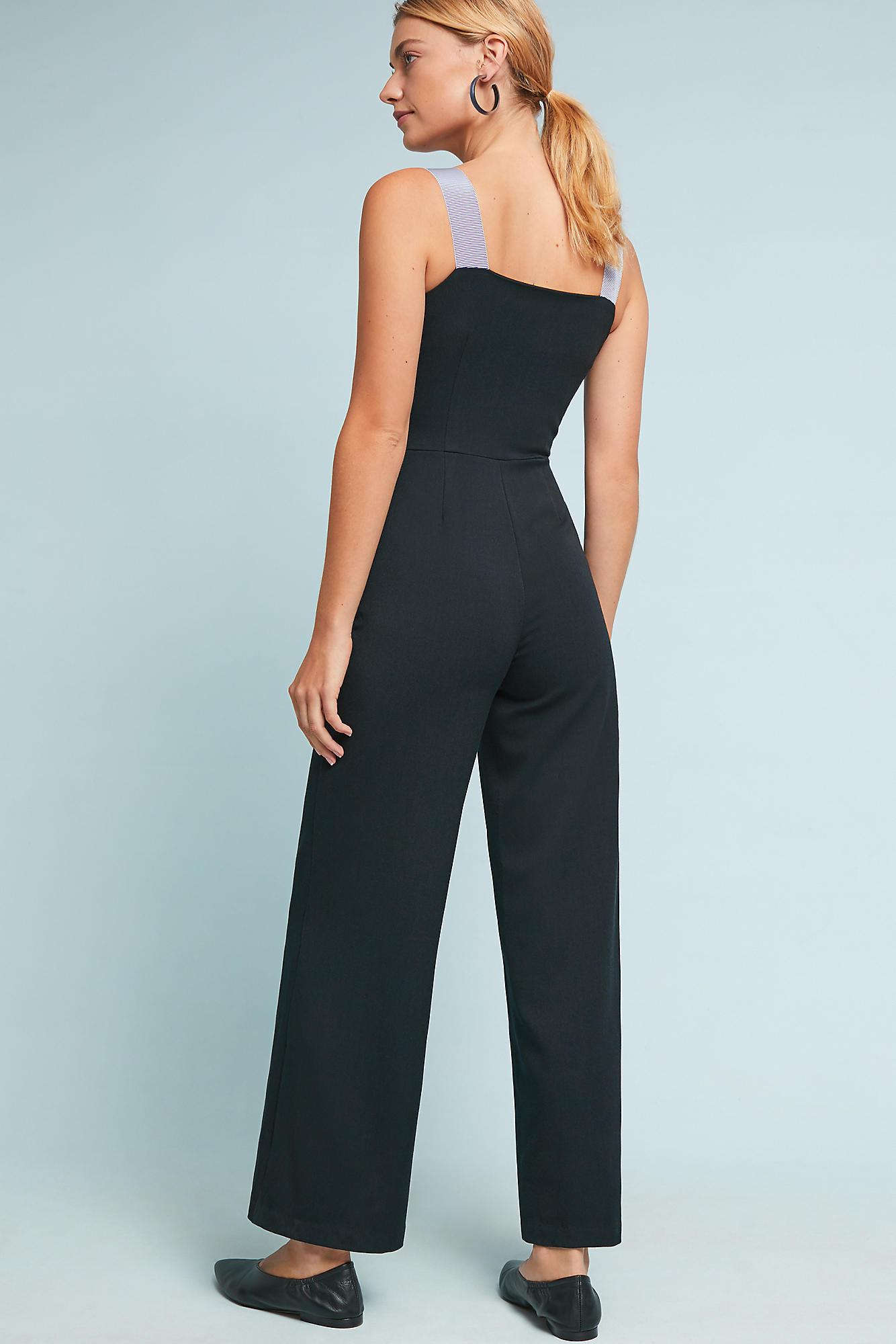 92a6afd883 Anthropologie Astoria Pinafore Jumpsuit in Black - Lyst