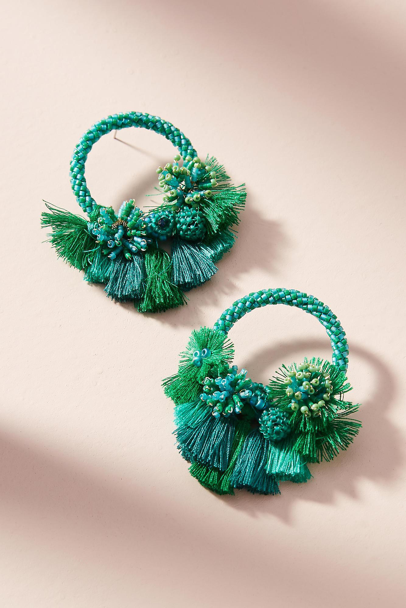 Mishky Luau Hooped Post Earrings R7rjfd8SVQ
