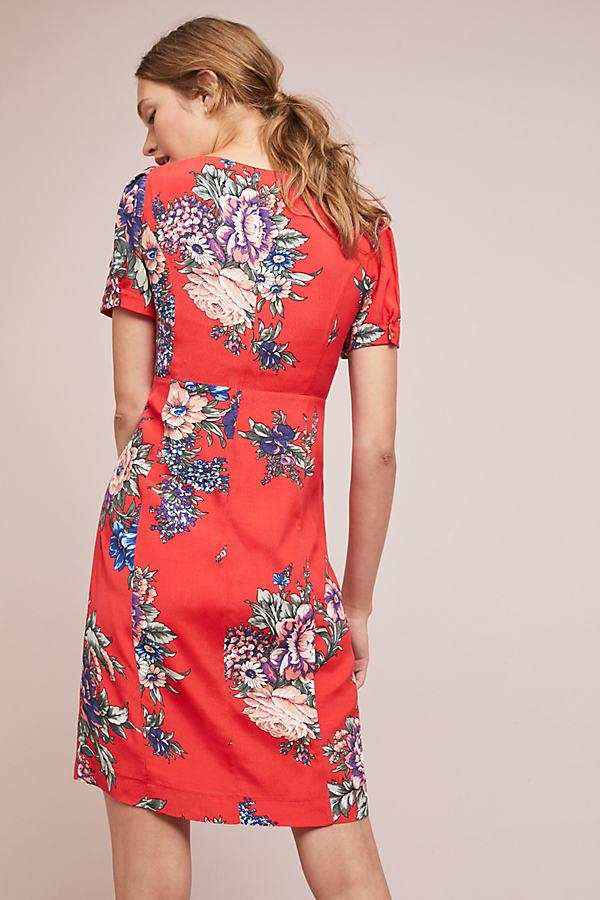 7cecd93e813 Maeve Caldwell Buttondown Dress in Red - Lyst