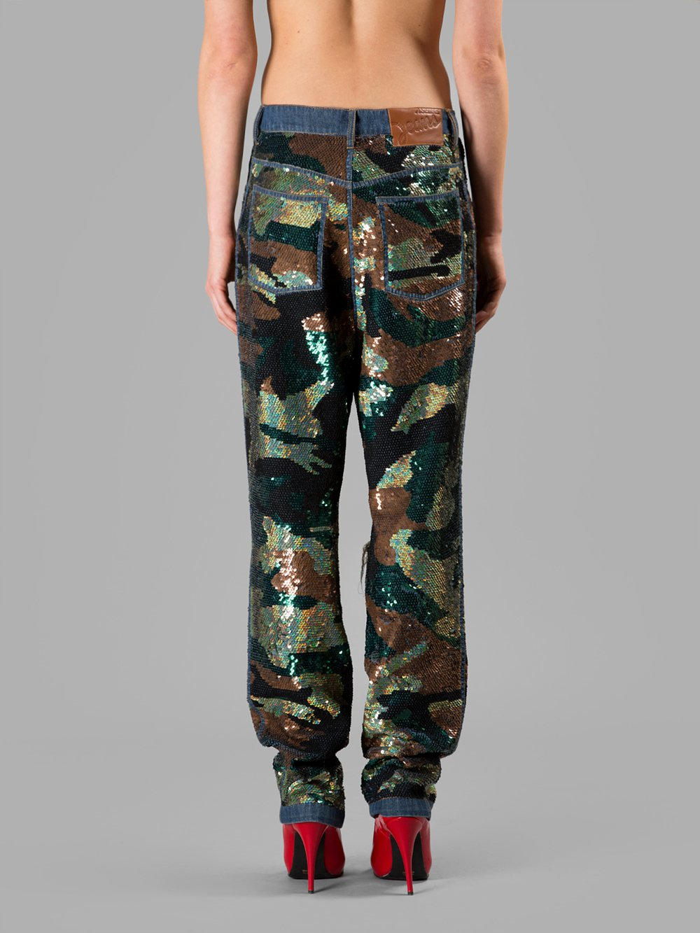 Ashish Women 226 S Camouflage Sequin Jeans In Multicolor Lyst