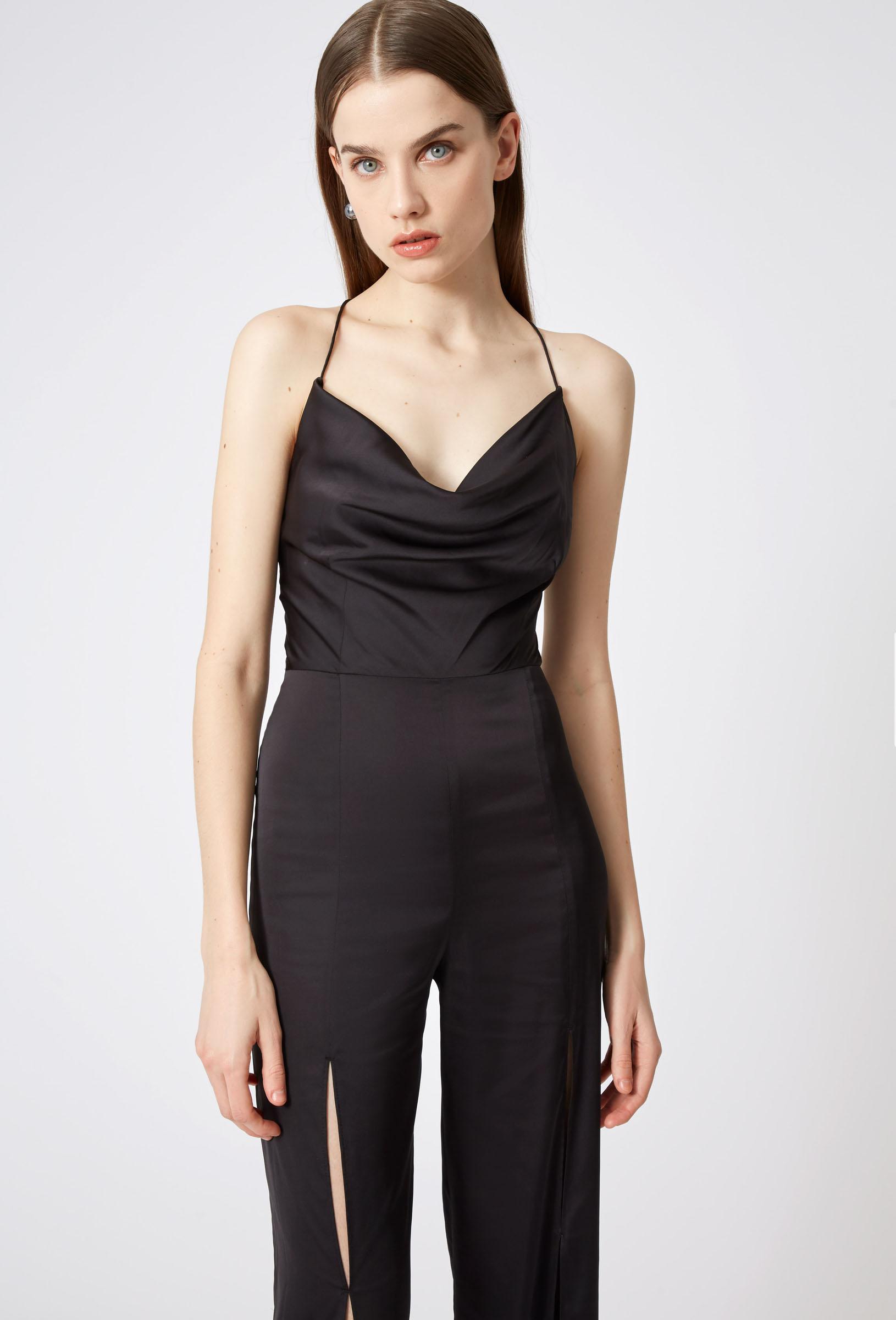 77cd72015b7 Lyst - Aq Aq Finley Cowl Neck Jumpsuit in Black
