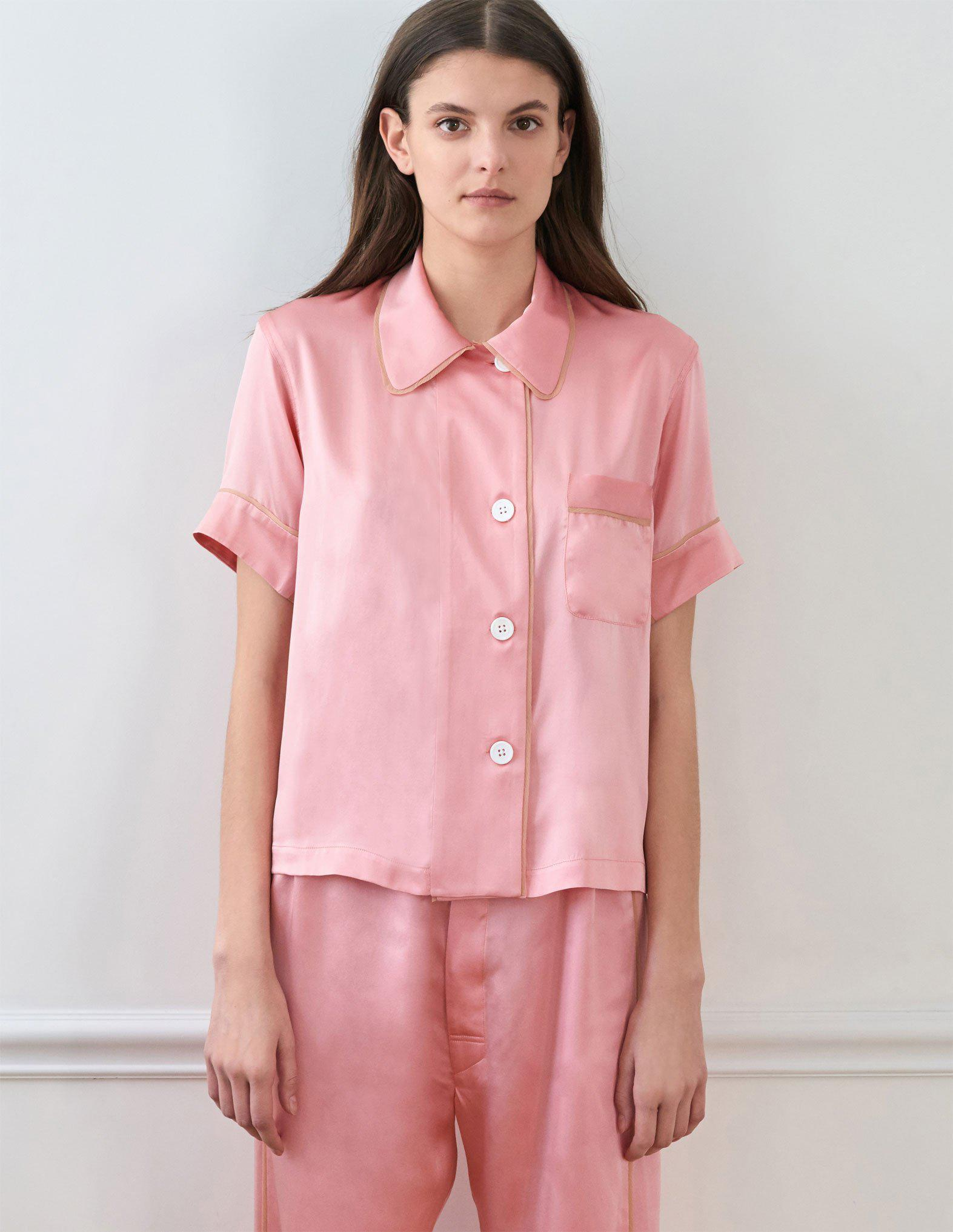 Lyst - Araks Shelby Pajama Top Dahlia in Pink 119e30a56