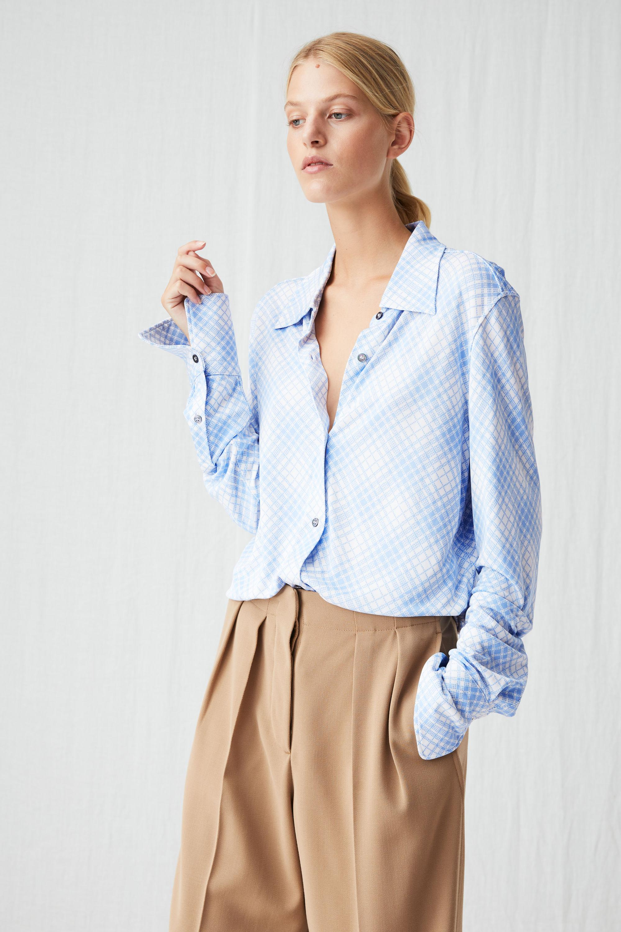 44ab5788 ARKET Printed Jersey Shirt in Blue - Lyst