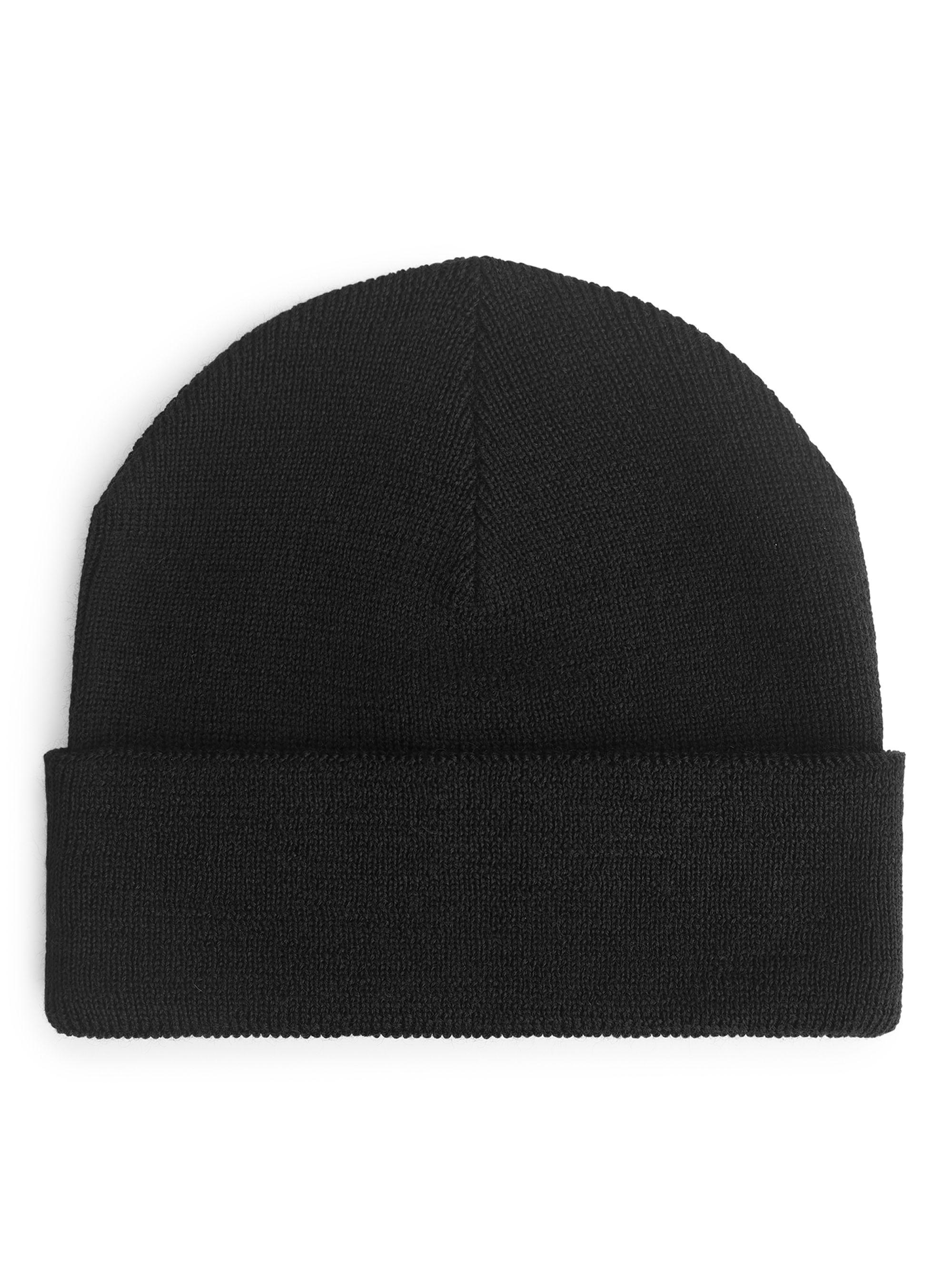 6a3fe6af3ed ARKET - Black Wool Beanie for Men - Lyst. View fullscreen