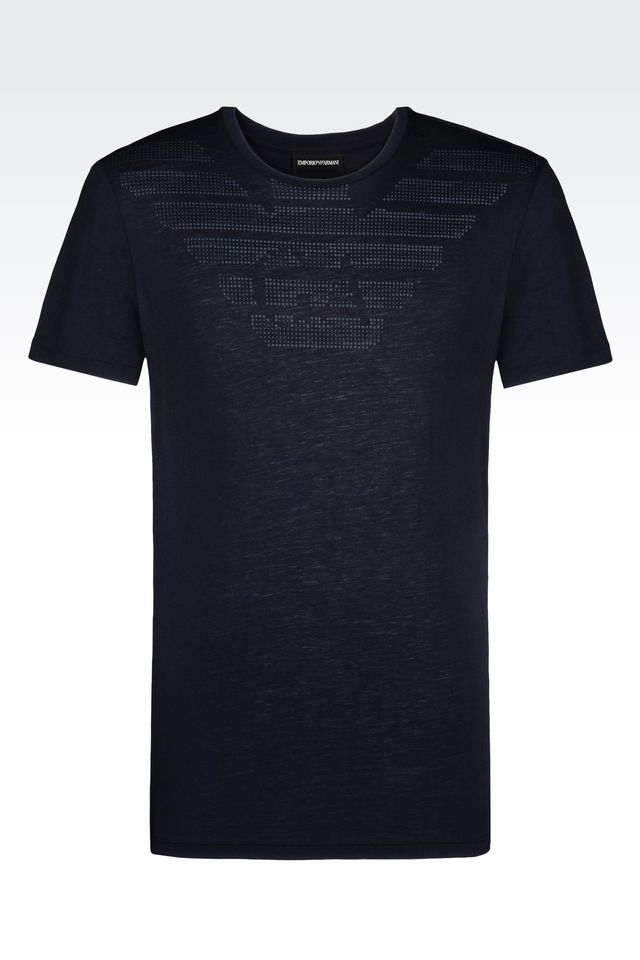 Emporio Armani Short Sleeve T Shirt In Black For Men Lyst