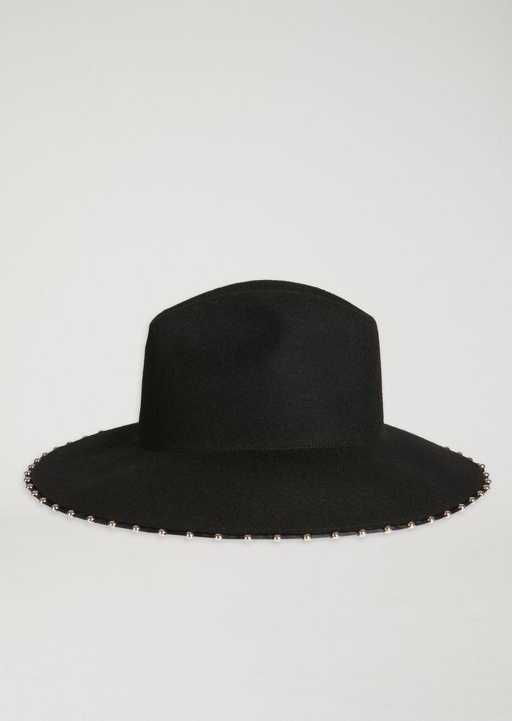 d3d1b0b42abbb Lyst - Emporio Armani Fedora Hat in Black
