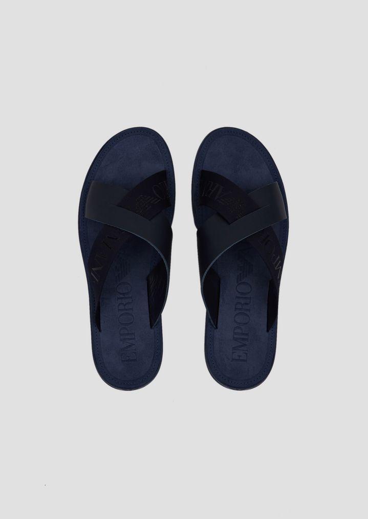 0cfad1cc96b5 Emporio Armani - Blue Sandals for Men - Lyst. View fullscreen