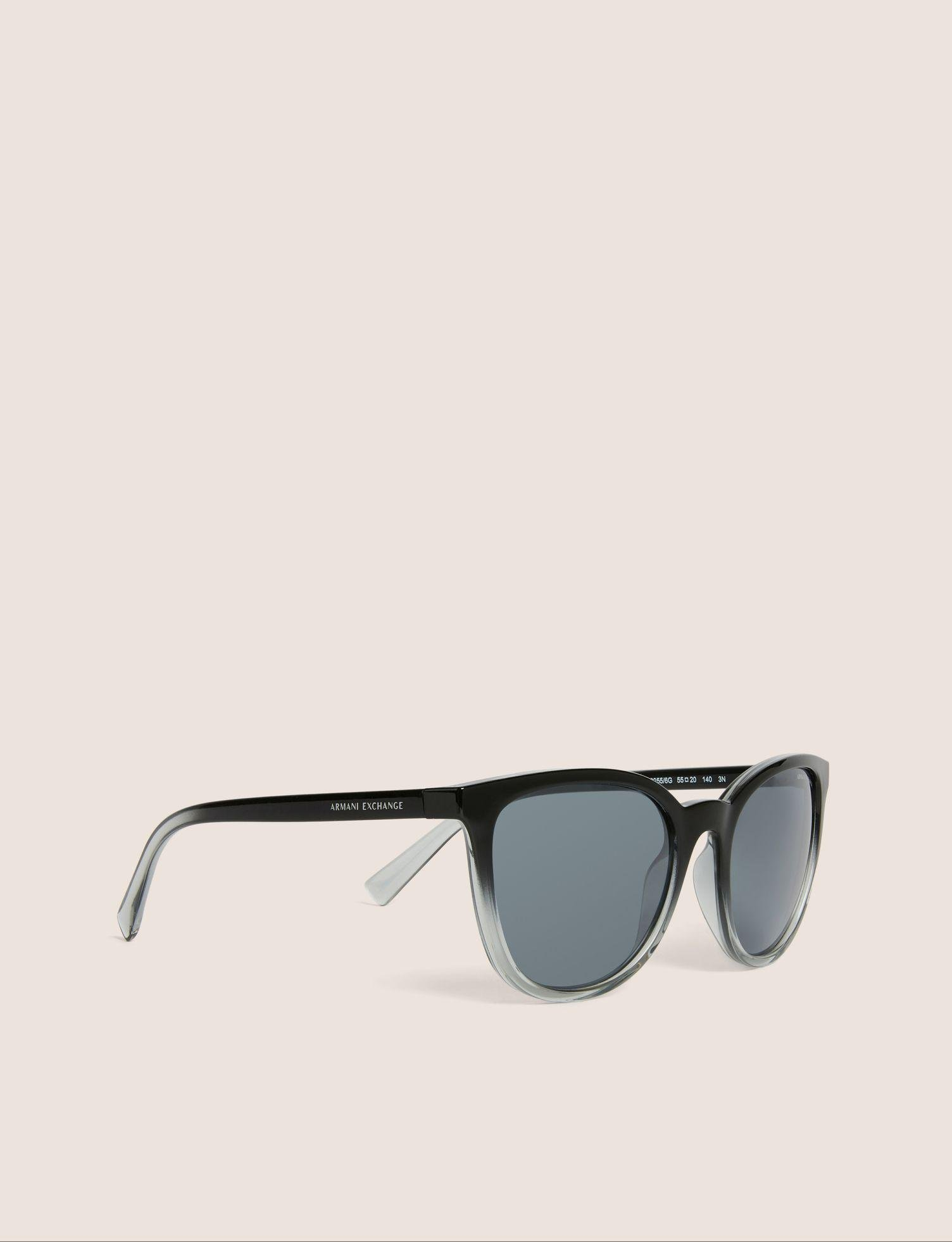 e912f8ce1e8 Armani Exchange - Black Grey Ombre Rounded Sunglasses - Lyst. View  fullscreen
