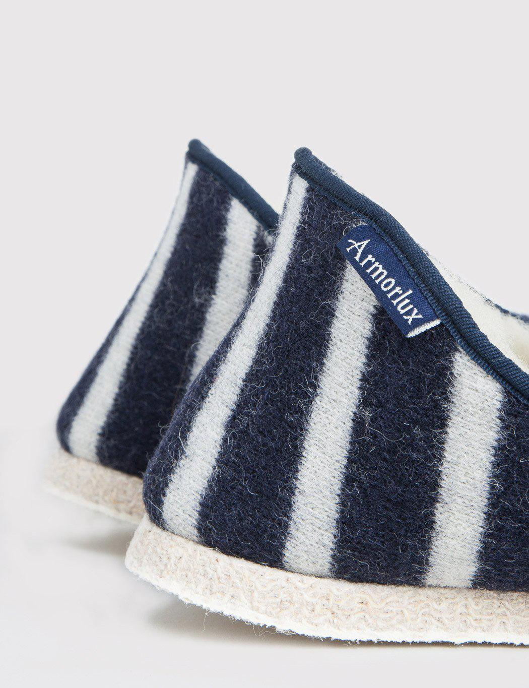 14523eedb91 Lyst - Armor Lux Striped Slippers in Blue