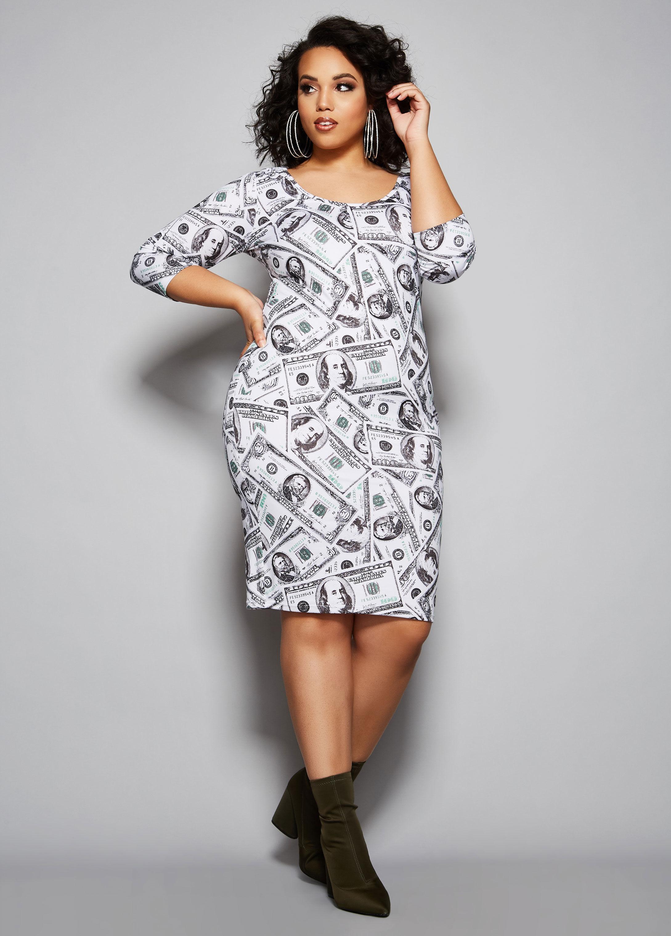 dbe459a2c61 Lyst - Ashley Stewart Plus Size The Money Dress in White