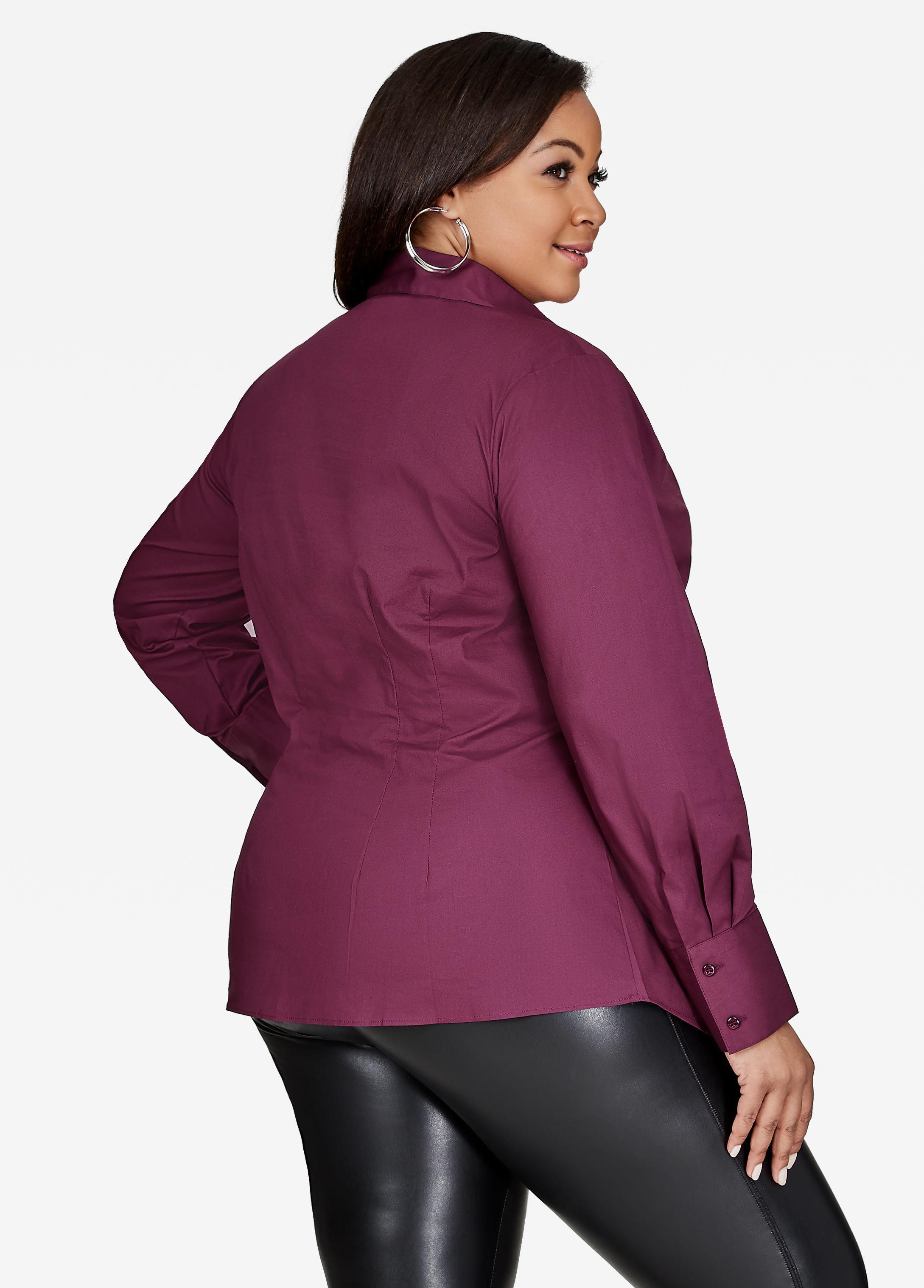 a2e0524693d Lyst - Ashley Stewart Button Up Dress Shirt in Purple