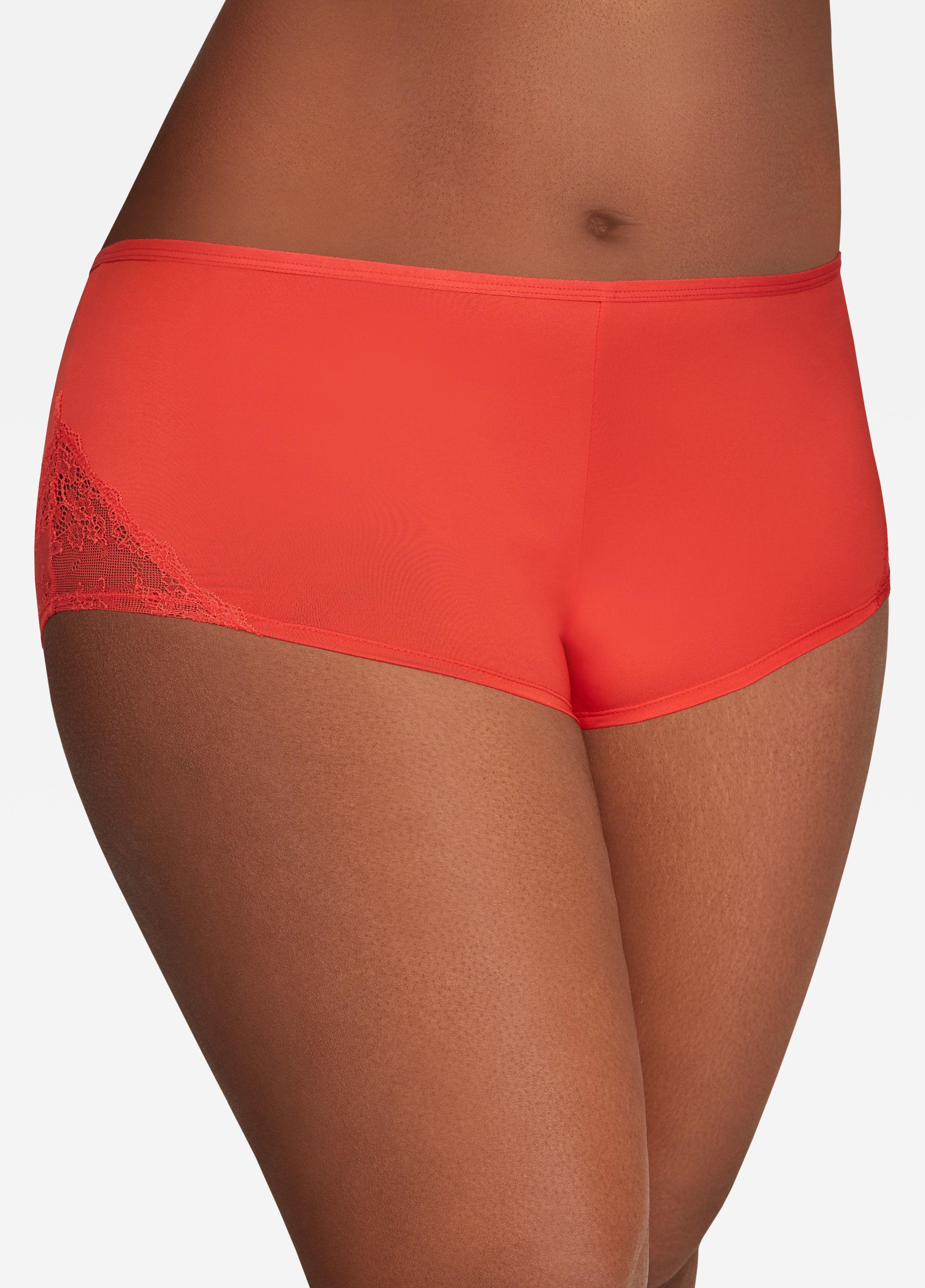 9ec9d051be9 Ashley Stewart Plus Size Lace Side Seamless Boyshort Panty in Red - Lyst