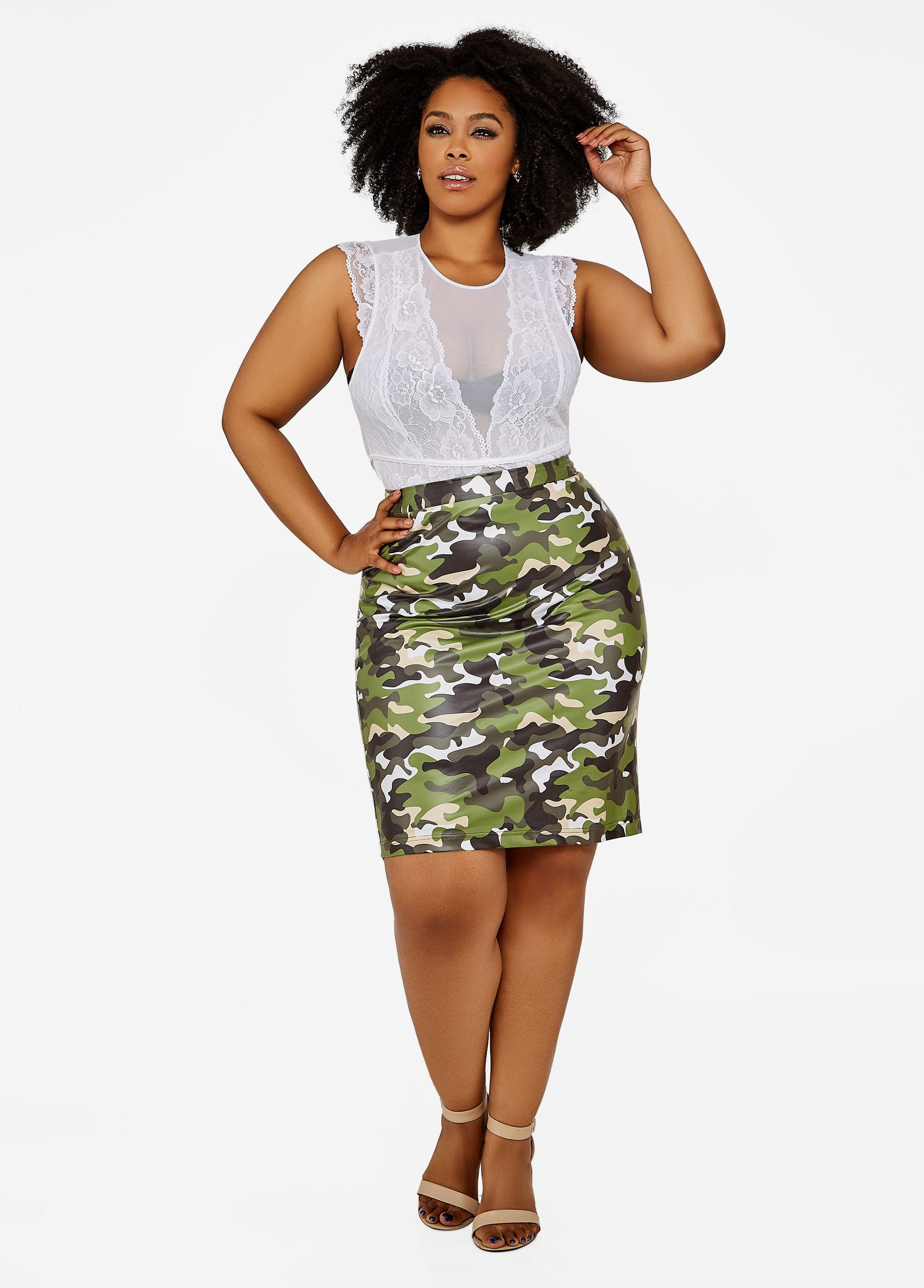 b84d0e12dcf83 Gallery. Previously sold at  Ashley Stewart · Women s Flounce Skirts ...