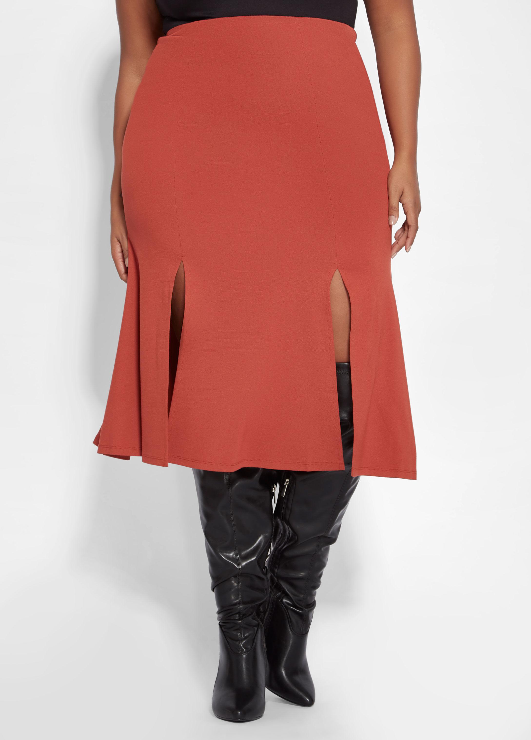 8ef81eeb984e0 Ashley Stewart. Women s Plus Size Ponte Knit Flare Skirt