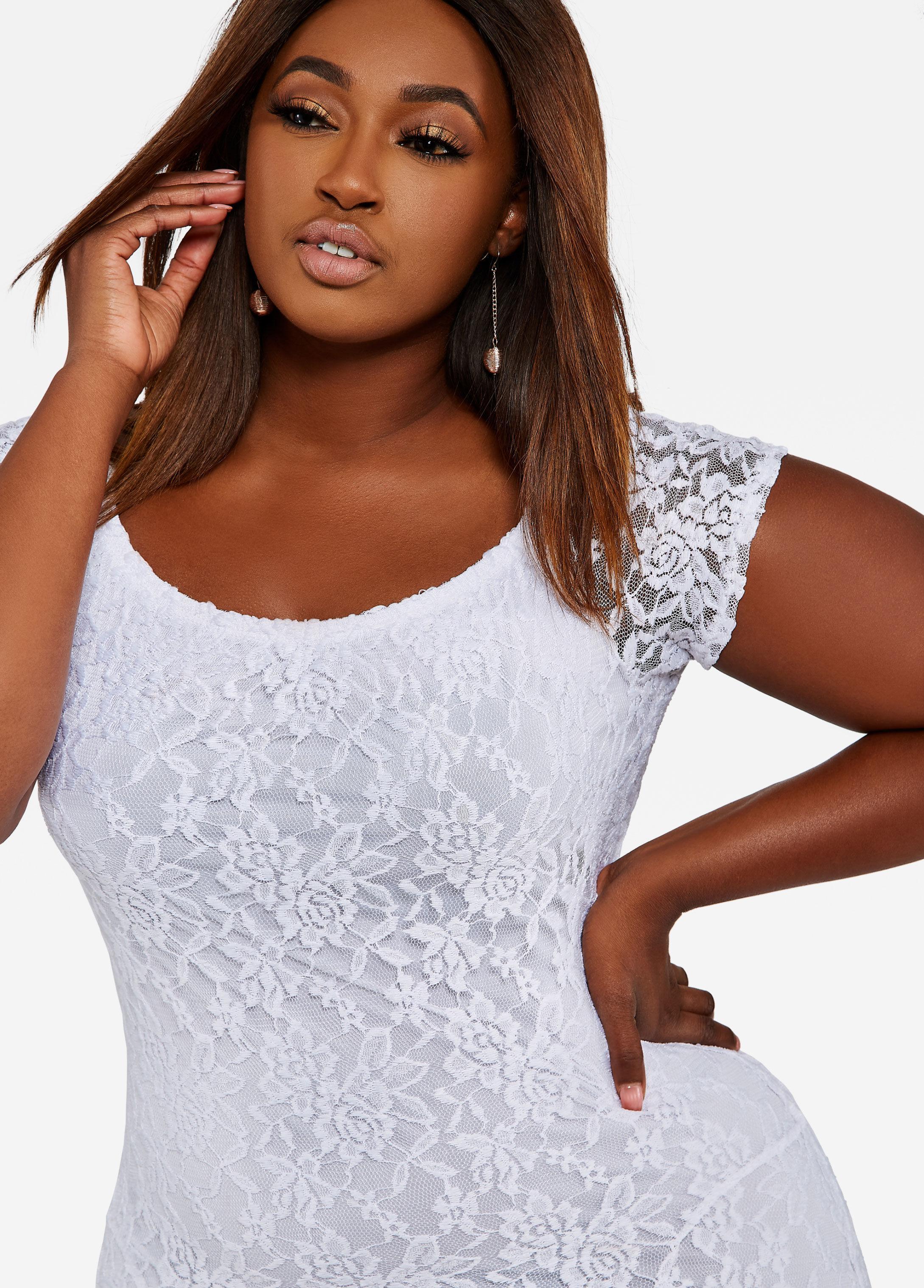 d54b11f7 White Lace Mermaid Maxi Dress - raveitsafe