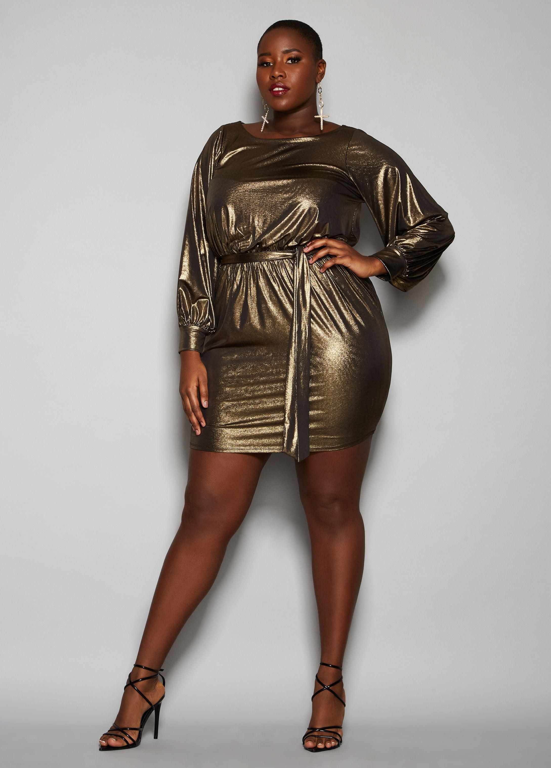 cc3f6c7d4e1 Ashley Stewart Plus Size The Rylee Dress in Metallic - Lyst