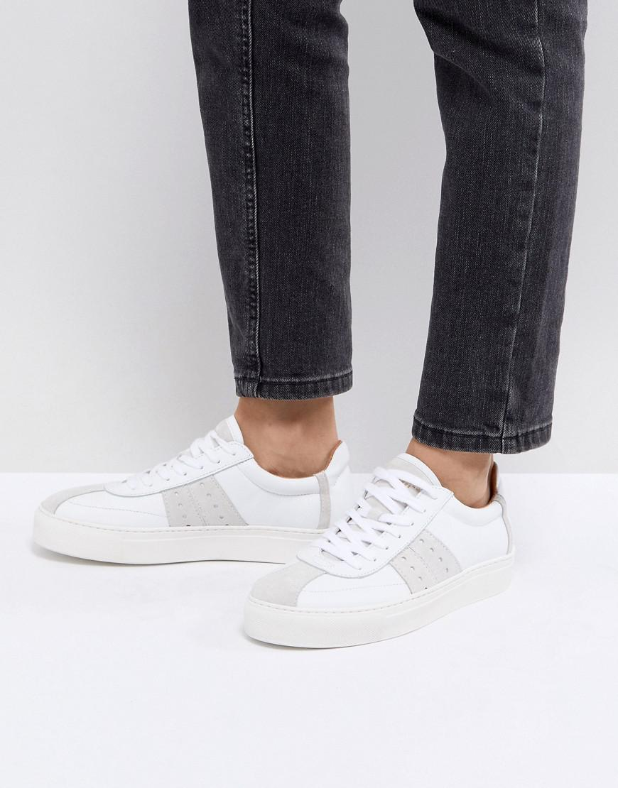 Selected Leather & Suede Sneaker lf9DTzYAi2