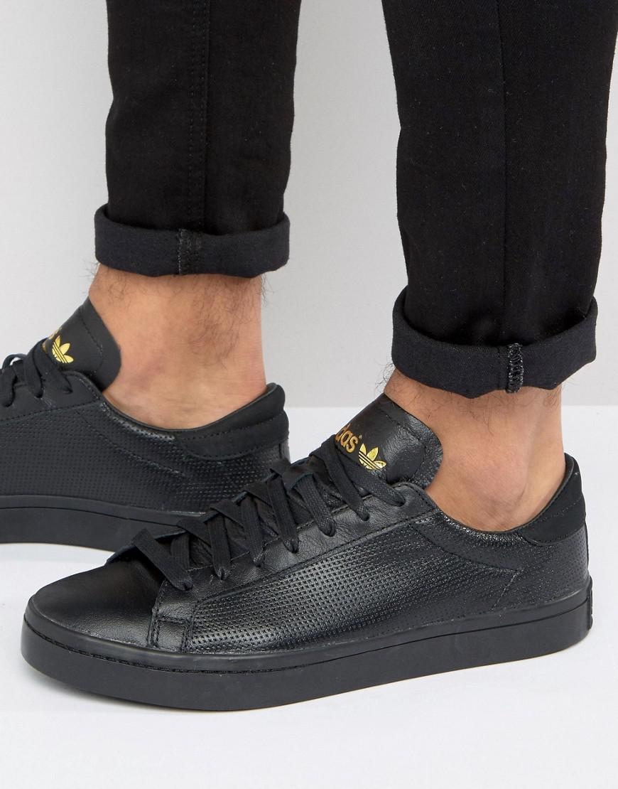 Court Vantage Trainers In Black CQ2562 - Black adidas Originals dS7PetFI0O