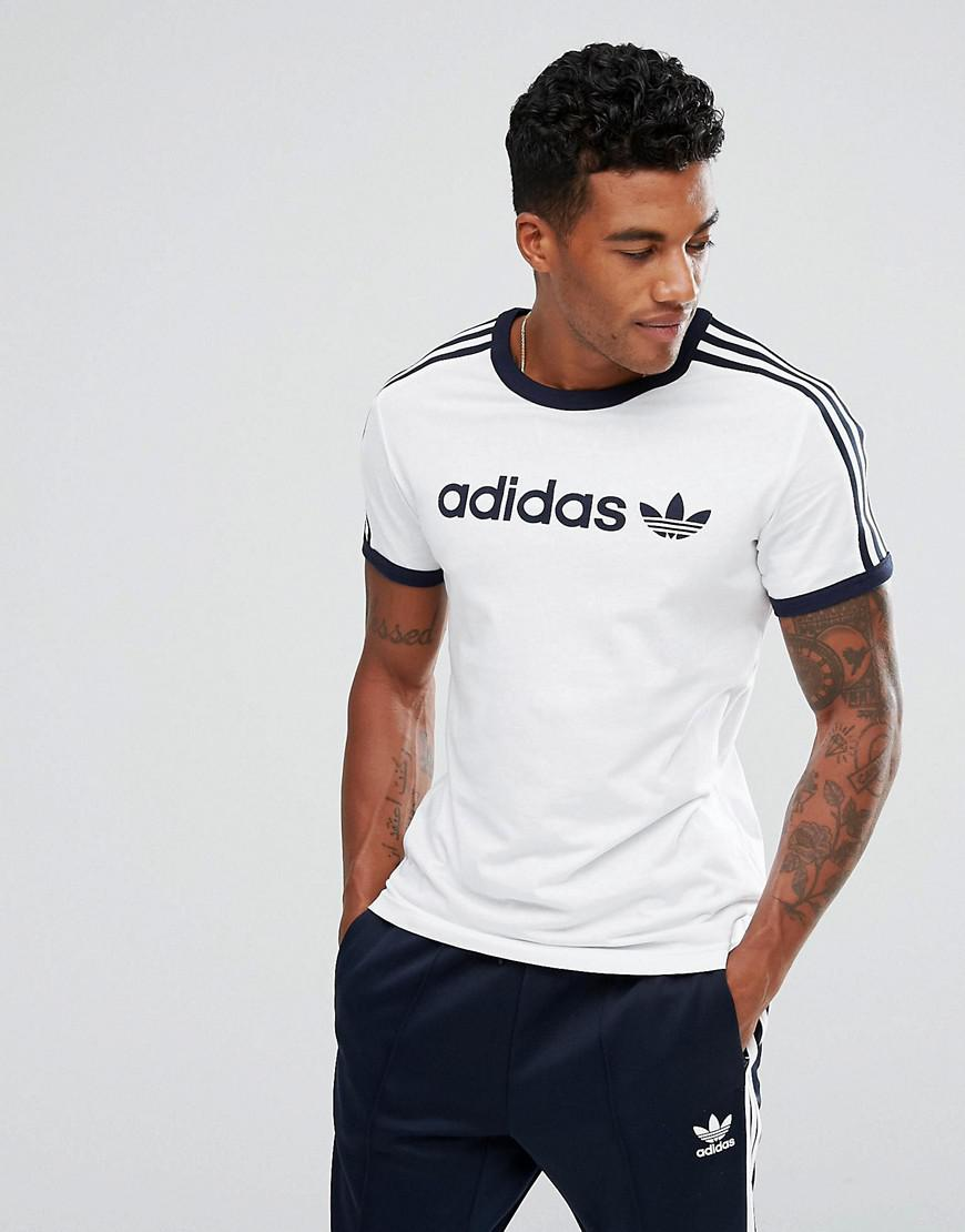 06d5af60 adidas Originals Adicolor Linear T-shirt In White Bs2478 in White ...