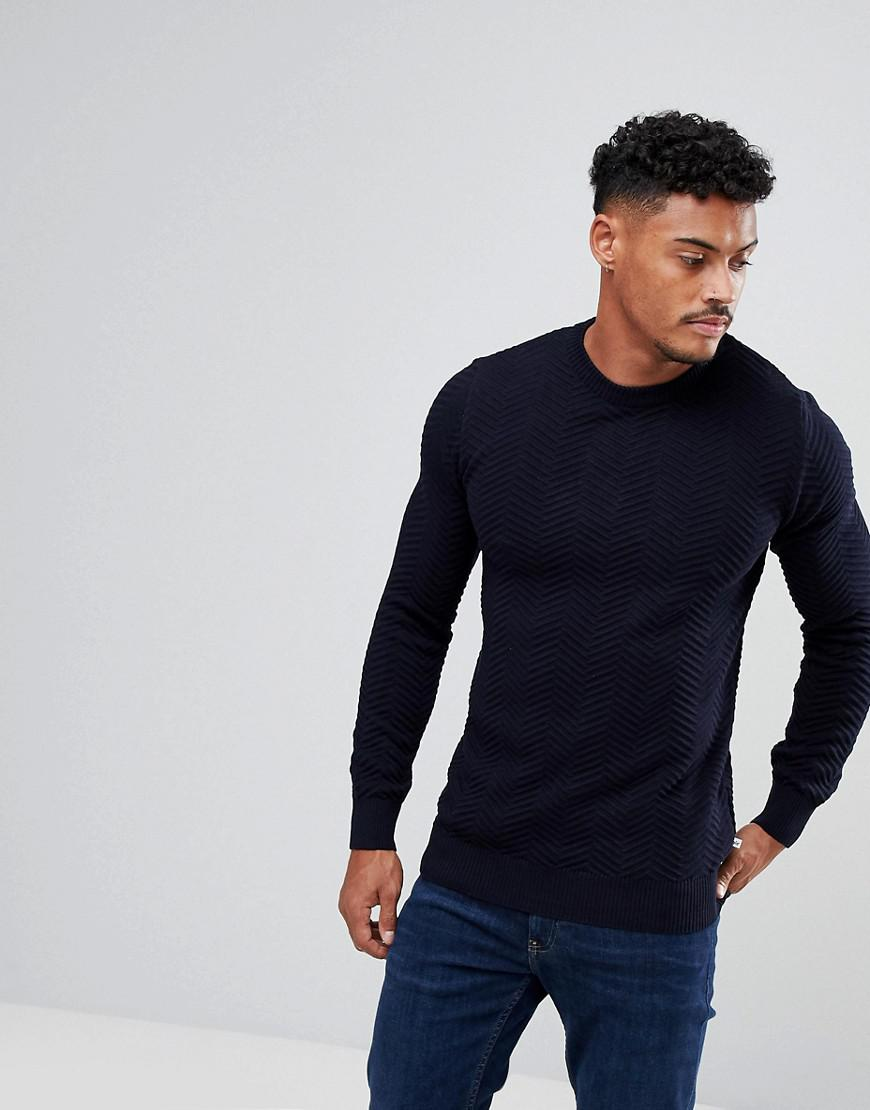 Kronstadt Crew Neck Jumper - Navy Kronstadt Many Kinds Of tywlJtVRDq