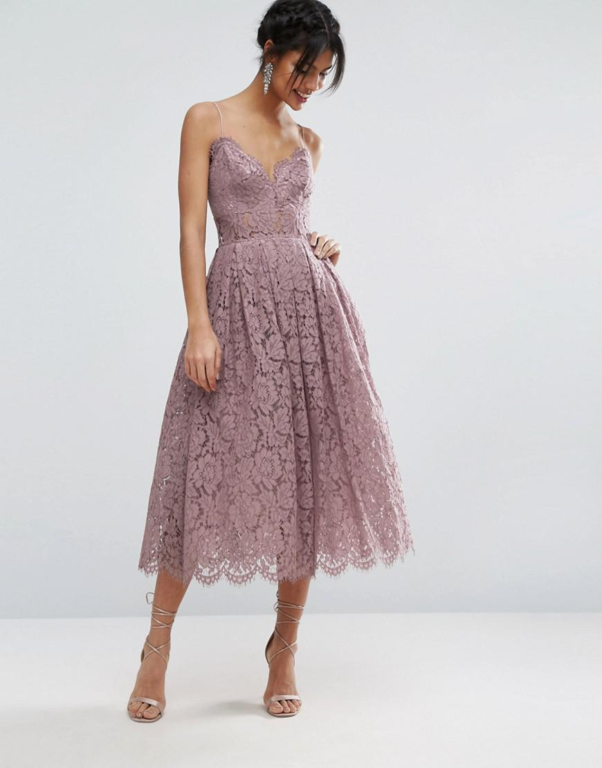 aaa9518a99 Asos Lace Cami Midi Prom Dress Review – DACC