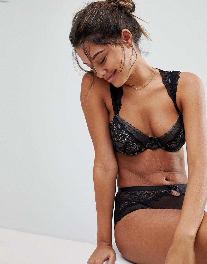 Discount With Mastercard Macy Lace Capped Sleeve Bra B - DD Cup - Black Dorina Outlet Popular Inexpensive Cheap Online With Paypal Sale Online Nice PpGEf5
