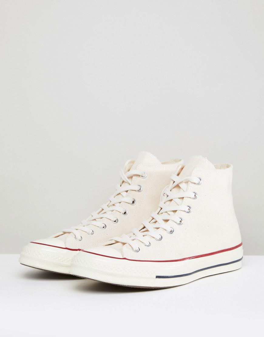 3b448894bc41d7 Converse All Star Hi Top Trainers White in White for Men - Lyst