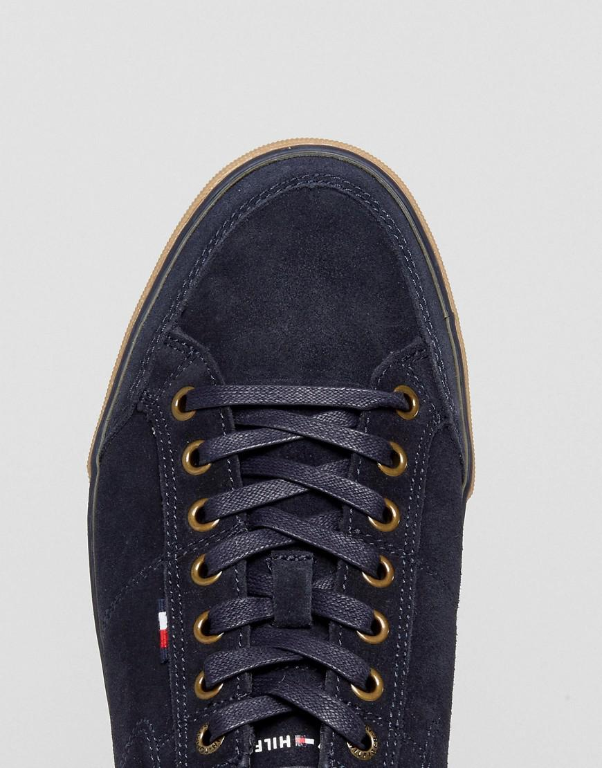 fb87d85a8 Lyst - Tommy Hilfiger Harrington Trainers Suede In Navy in Blue for Men