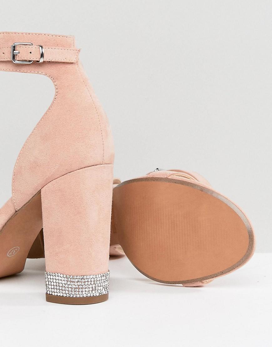Office Hip Blush Embellished Block Heeled Sandals recommend sale online cheap for sale ROKVbLJrL
