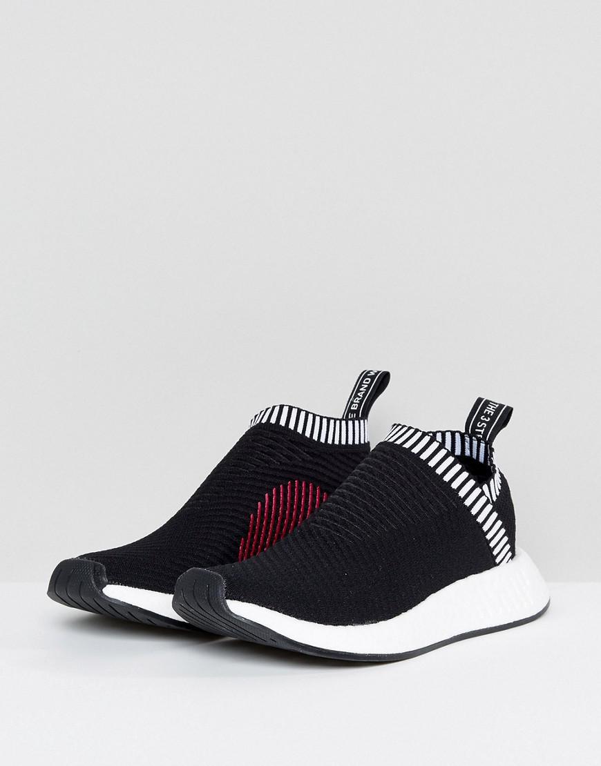94c1f8273 adidas Originals Black Nmd Cs2 Primeknit Trainers in Black for Men ...