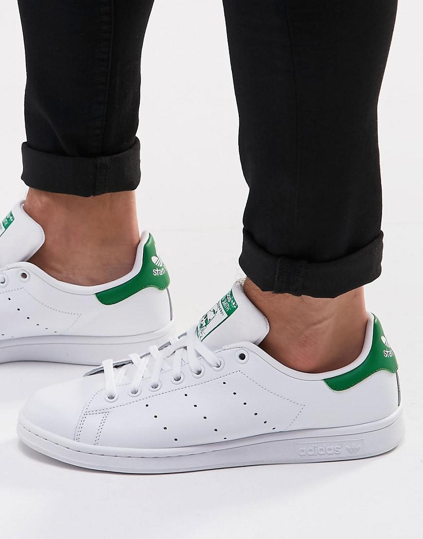 adidas Originals Stan Smith Leather Trainers In White S75074 enjoy cheap online hR9fW3D