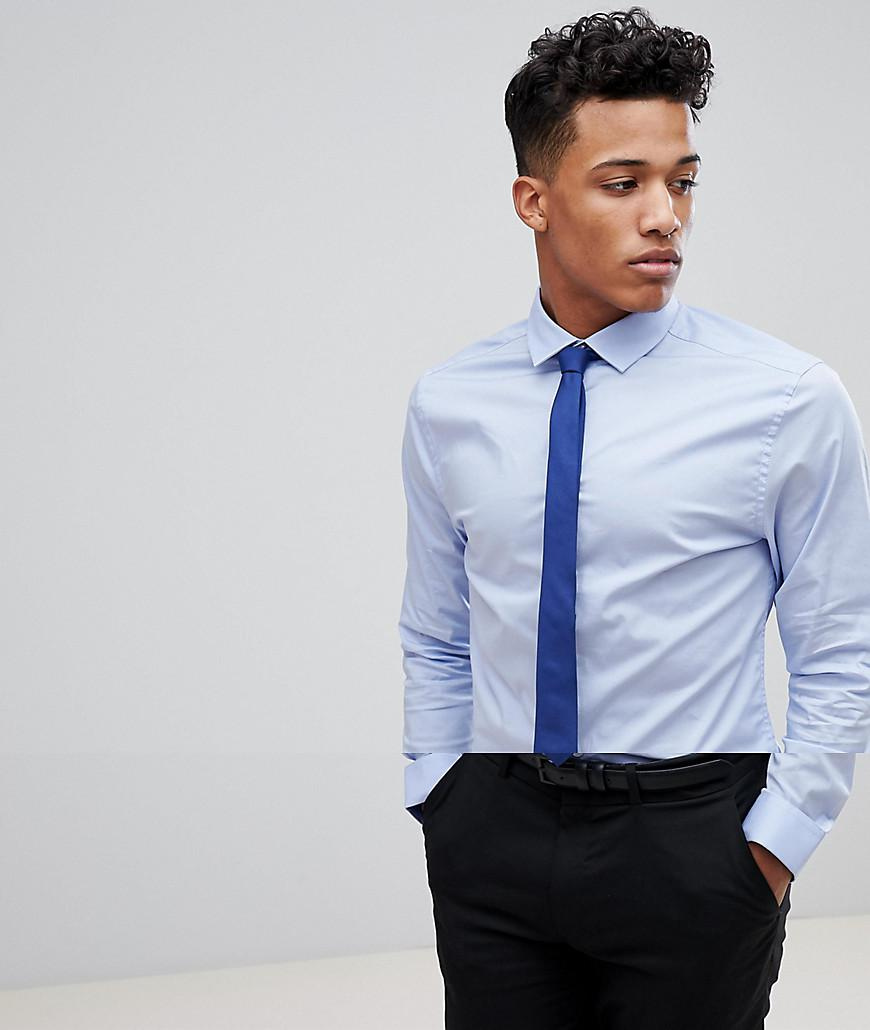 Lyst Asos Skinny Blue Shirt And Navy Tie Save In Blue For Men