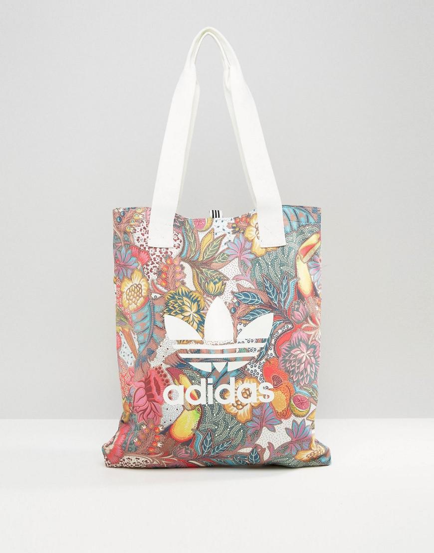 345ee5f419 Lyst - adidas Originals Farm Print Shopper Bag In Bright Floral