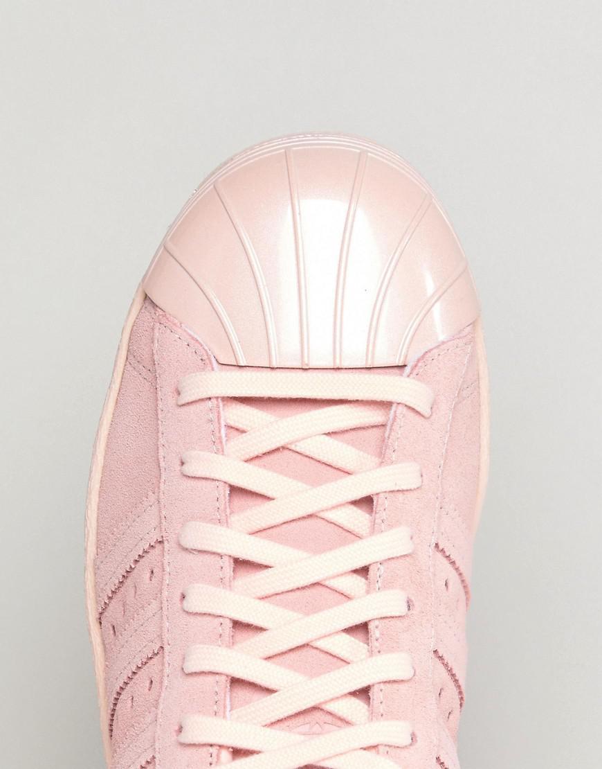 san francisco c2d58 a34f7 ... cheap lyst adidas originals originals pink superstar 80s trainers with  c4546 a3706
