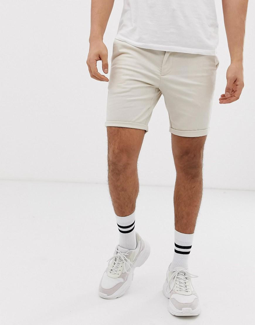 1026f8d991 River Island Shorts In Stone for Men - Lyst
