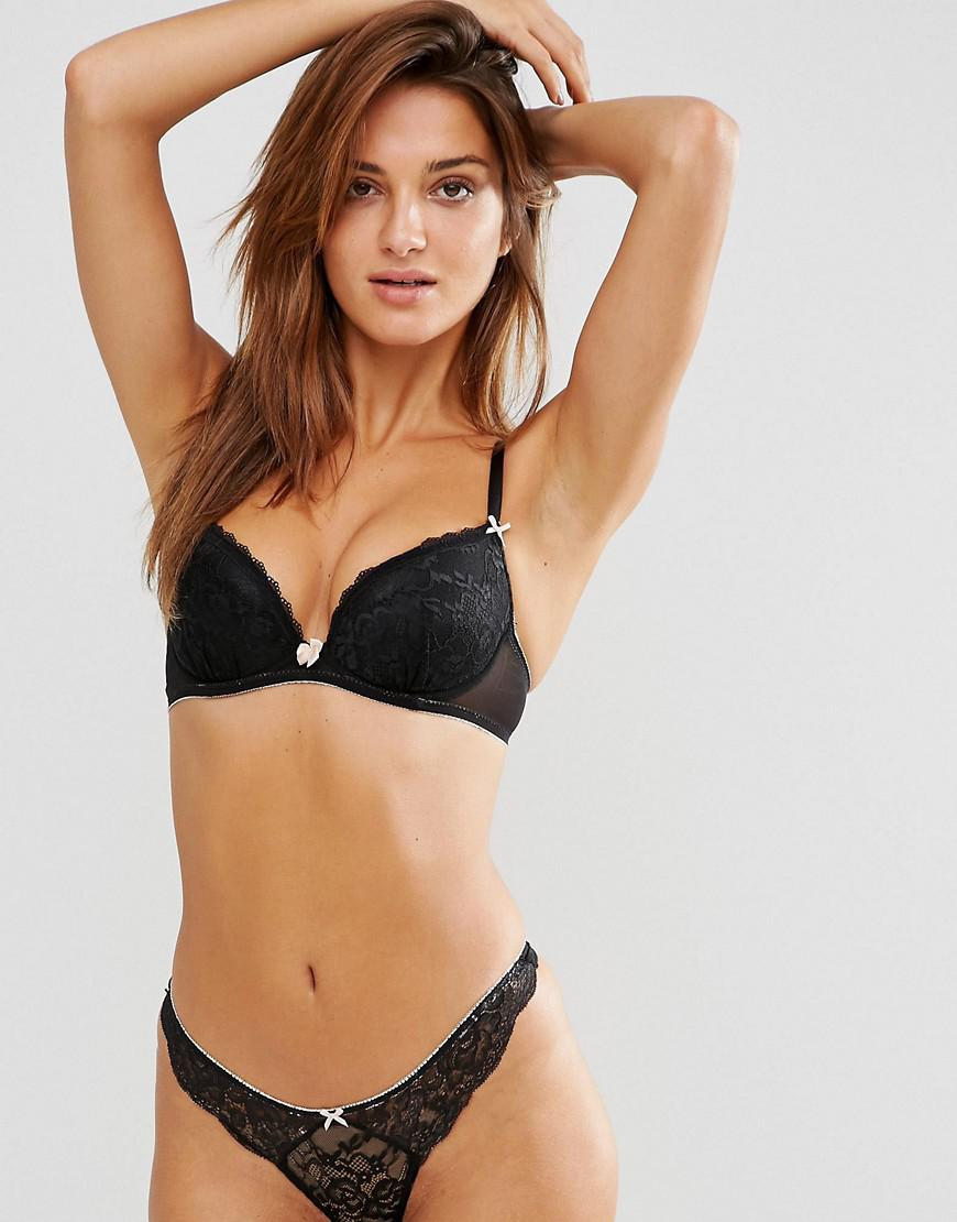 6bf0d6dc9 Ann Summers Sexy Lace Plunge Bra in Black - Lyst