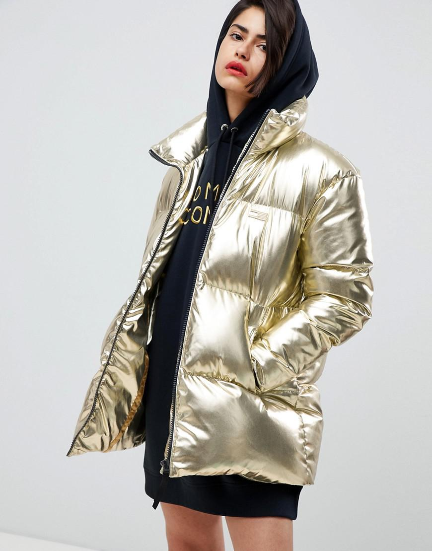 Tommy Hilfiger Tommy Icons Puffer Jacket in Metallic - Lyst 3d6d0b27a8