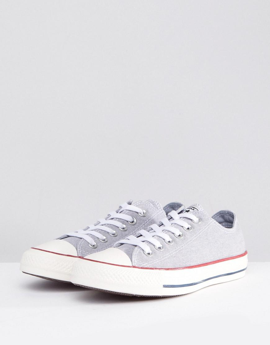 a80731c4dad3 Lyst - Converse Chuck Taylor All Star Ox Sneakers In Stonewashed Gray in  Gray
