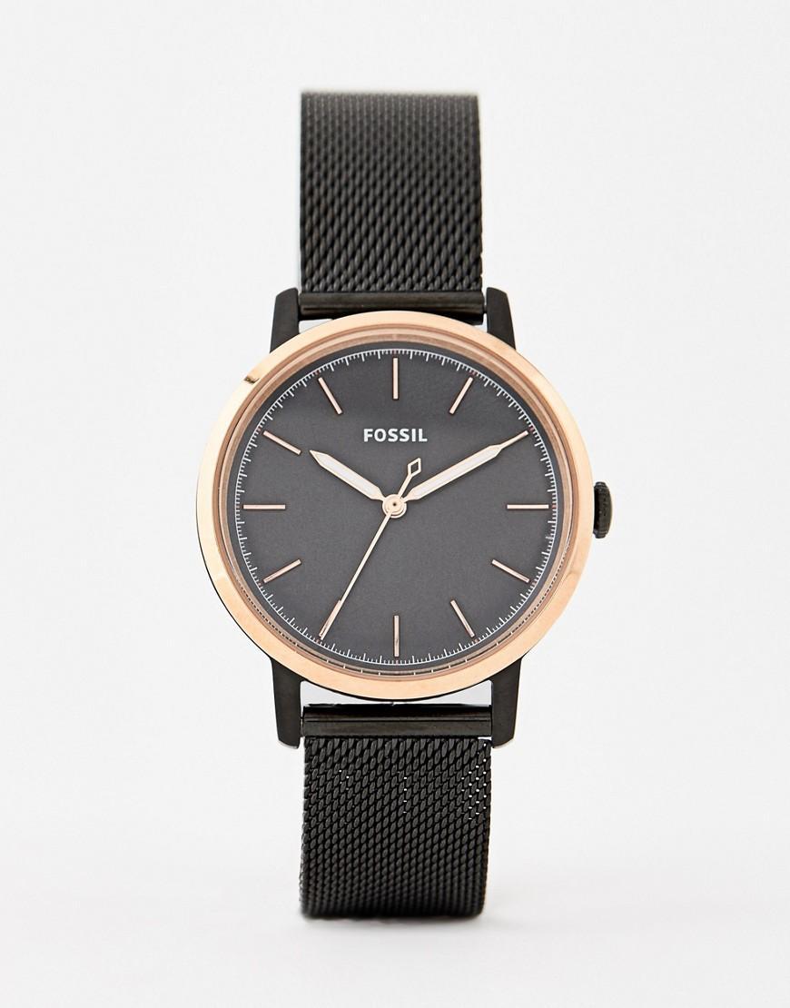 4cfa7574d6dc Reloj de malla de 34 mm en dorado negro ES4467 Neely de Fossil de ...