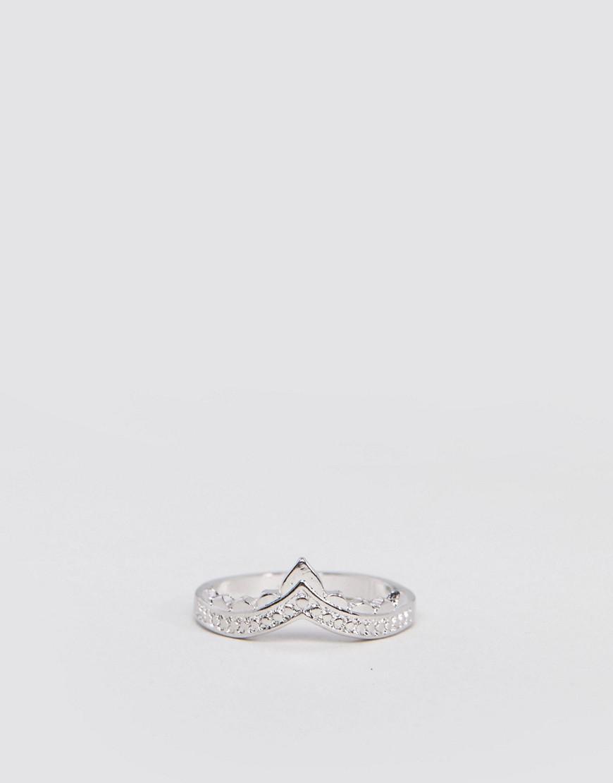 Lyst - Asos Design Engraved Edge Thumb Ring in Metallic