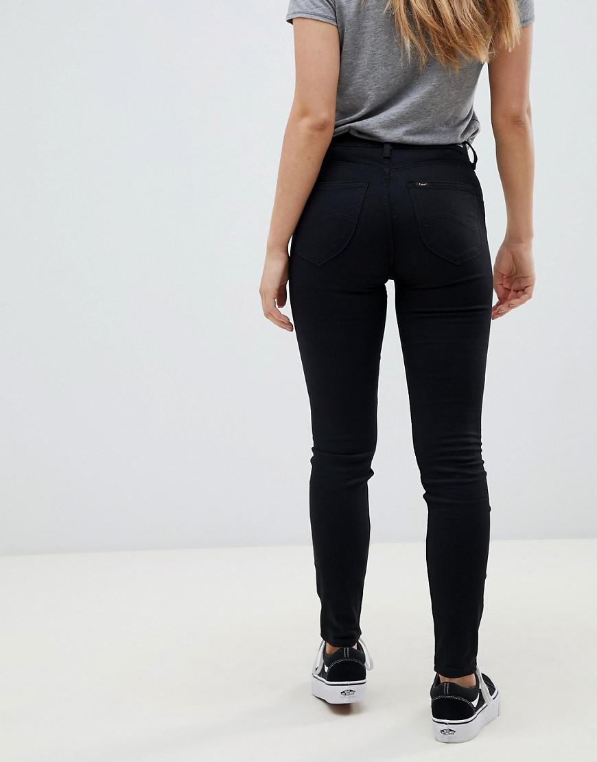 a1551864 Lee Jeans Lee Scarlett High Rise Skinny Jeans in Black - Lyst